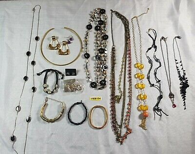 £4 • Buy Mixed Costume Jewellery Job Lot Vintage And Modern Necklaces Bracelets Earrings