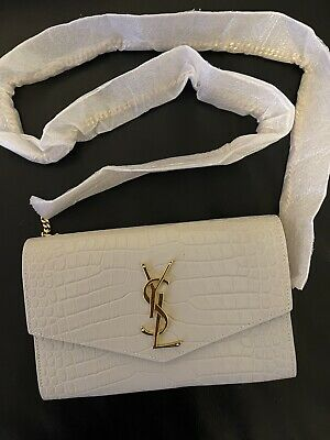 AU1690 • Buy Authentic YSL Uptown Clutch Chain Bag - Brand New With Tags
