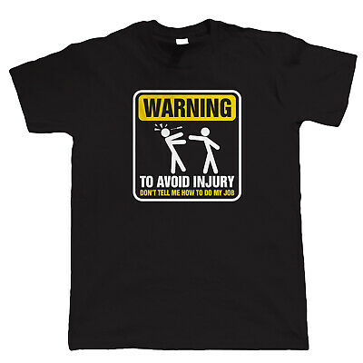 £11.98 • Buy Warning To Avoid Injury Mens Funny Electrician T Shirt - Gift For Him Dad
