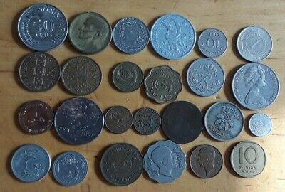 £12 • Buy Old Foreign Coins Job Lot. Interesting Coins X 25