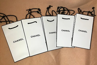 £8.90 • Buy Chanel Paper Gift Bags Five Numbers 18x10x5cms(Buy It Now Offer-one Bag Free)