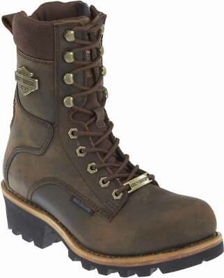 $ CDN239.12 • Buy Harley-Davidson Men's Tyson 7.5-Inch Brown Logger Style Motorcycle Boots D96100