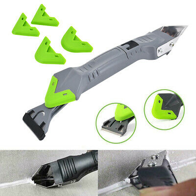 £7.49 • Buy 5-1 Silicon Cement Glass /Mastic Sealant Grout Removal & Finishing Tool Black Uk