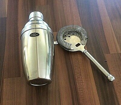 £22 • Buy Retro Stainless Steel Cocktail Shaker 18-8 With Strainer Made In Japan