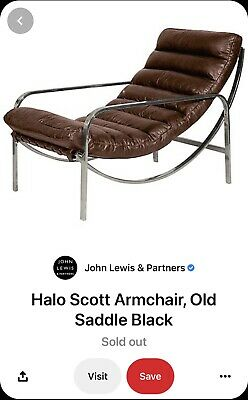 £25 • Buy John Lewis Halo Scott Leather Arm Chair/ Chaise