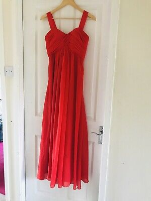 £10 • Buy Beautiful Red Prom Occasion Dress Size 8 Paid £220