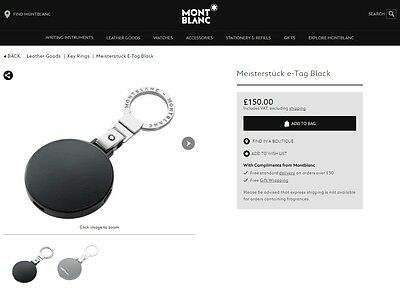 £115 • Buy New Montblanc Luggage Security Pen Keyring Smart Tracker E-Tag For All Iphones