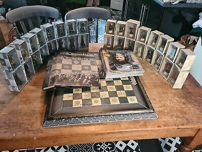 £160 • Buy Eaglemoss Lord Of The Rings Chess Set 1 +official Board,32 Magazines + 2 Binders