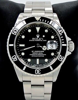 $ CDN12755.82 • Buy ROLEX Submariner 16610 Oyster Date SS Black Dial Men's Watch *MINT CONDITION*