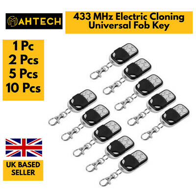 £12.99 • Buy 433 MHz Remote Control Electric Cloning Universal Gate Garage Remote Control Fob