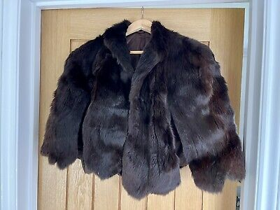 £6.10 • Buy Vintage Real Fur Shawl / Stole With Fastening