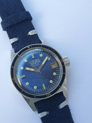 $ CDN590.76 • Buy Vintage Silver Squale Skin Diver Automatic Sub 33,5mm