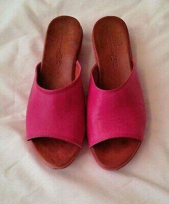 £10 • Buy Womans Size 6.5/40 Shoe, Mule Leather, Riva, Fushcia Pink Excellent Condition.