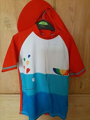 £3.95 • Buy Boys/Girls  Swimming Sunsafe  Top And Hat Size 4-5 Years New With Label George.