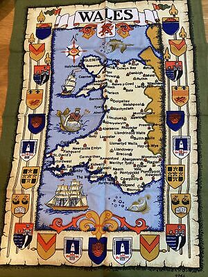 £2.99 • Buy New Traditional Map Of Wales Tea Towel Gift Idea Cotton Welsh Towns 69x47cms