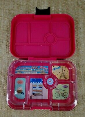 AU24.04 • Buy YUMBOX Kids Bento Lunch Box Leakproof Container Pink White Stars 6 Compartments