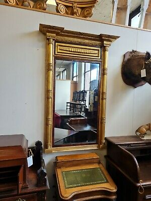 £400 • Buy Circa 1820 Regency Gilt And Rosewood Pier Mirror With Breakfront Pediment