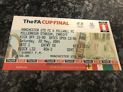 £9 • Buy 2004 FA Cup Final Ticket Stub, Millwall V Manchester United