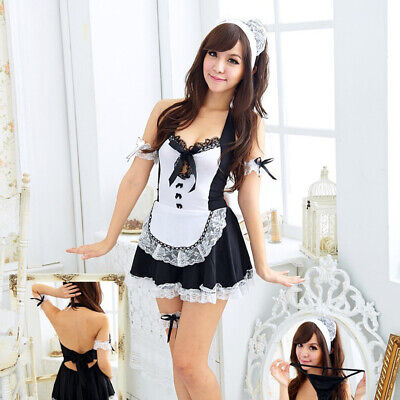 $12.99 • Buy Women Sexy Lingerie Set Cosplay French Maid Babydoll Outfit Fancy Dress Costume