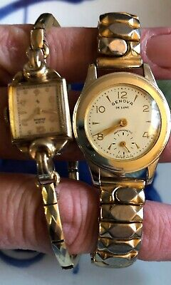 $ CDN40.26 • Buy Vintage Watch LOT  Non-working One Is 10k Gold Filled You Get Both