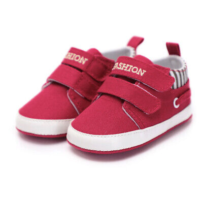 £0.70 • Buy Infant Newborn Baby Boy Girl Canvas Cotton Soft Red Sneaker Shoes Free Delivery