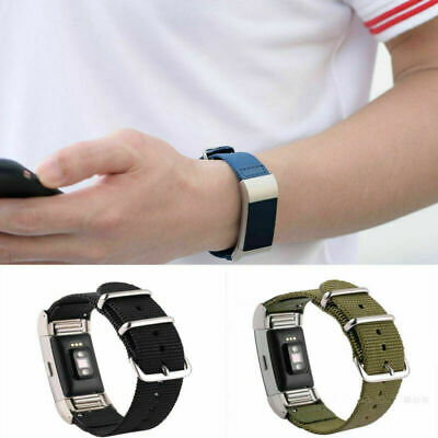 $ CDN8.88 • Buy Nylon Replacement Watch Wrist Band Bangle Strap For Fitbit Charge 2 Men Women