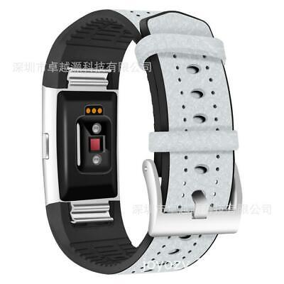 AU9.41 • Buy 1*Optional TPU Leather Watch Band Wrist Bracelet For Smart Watch Fitbit Charge2