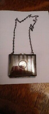 £10 • Buy RARE Art Deco Antique Victorian Silver Plated Chatelaine Stamp Purse Coin Purse
