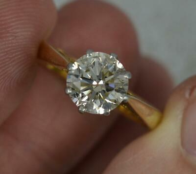£3775 • Buy Natural 1.40ct Diamond And 18ct Gold Solitaire Engagement Ring