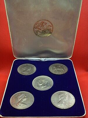 £9.99 • Buy Crown Coins Boxed Set Of Five, 1951 (Festival Of Britain), 1965, 1972 X 2, 1977