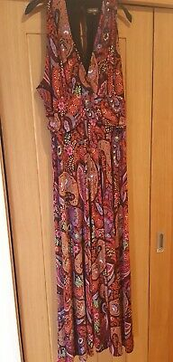 £7.99 • Buy Multi Coloured Paisely Patterned Phase Eight Maxi Dress Size 18