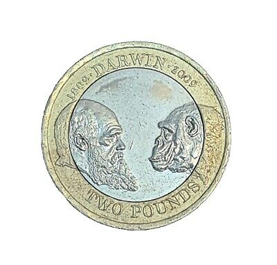 £370 • Buy Charles Darwin 2 Pound Coin £2 Coins Rare Unusual Circulated 2009.
