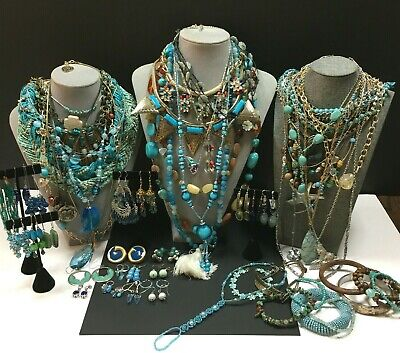 $ CDN23.75 • Buy Vintage New Turquoise JEWELRY LOT Lia Sophia LUCKY Brand Necklace Earrings R35M