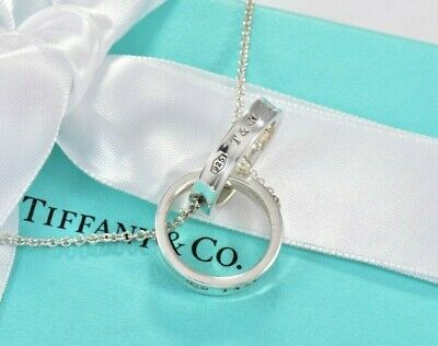 £261.95 • Buy Tiffany & Co Silver Large 1837 Interlocking Circles 20  Necklace & Box Pouch
