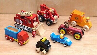 £9.99 • Buy Wooden Toy Cars Bundle - Wooden Vehicles