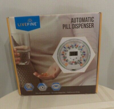 £28.39 • Buy LiveFine Automatic Pill Dispenser With 28-Day Electronic Pill Organizer EUC