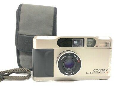 $ CDN1073.33 • Buy EXC+5 W / Case CONTAX T2 35mm Silver Point & Shoot 35mm Film Camera From JAPAN