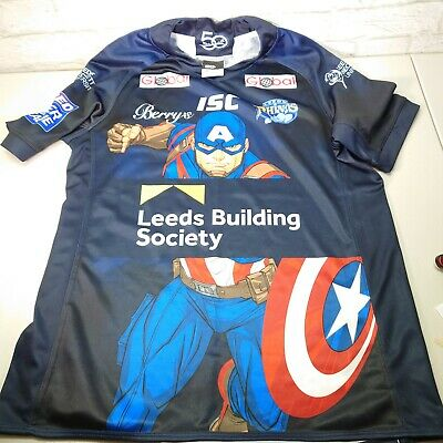 £39.99 • Buy Authentic Leeds Rhinos  Captain America  Rugby League Shirt By ISC -VGC - Size M