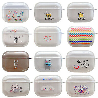AU5.99 • Buy For AirPod 1 2 Pro Cute Cartoon AirPods Soft TPU Case Protective Cover & HOOK