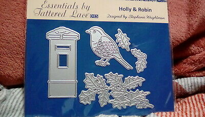£24.99 • Buy Holly And Robin Dies---  Tattered Lace