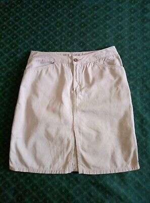 £7.75 • Buy Ladies Guess Chinos Skirt  Size 12 Hipster Scooter Soul Mod Girl 80s 90s