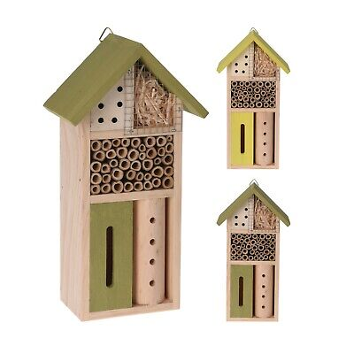 £10.99 • Buy Wooden Insect Hotel Bee Bug House Natural Wood Shelter Garden Nest Home Box