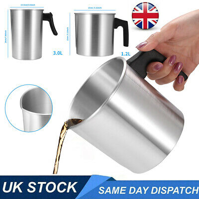 £9.99 • Buy 1.2L/3L Stainless Steel Wax Melting Pot Double Boiler DIY Wedding Scented Candle