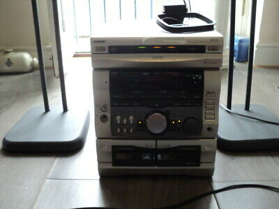 £55 • Buy Vintage SONY Stereo System Hi-Fi HCD-RX77S CD/ RADIO Cassette 2 SPEAKERS FAULTY