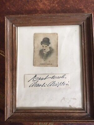 £9.99 • Buy Early Charlie Chaplin Autograph Mounted Under A Silk