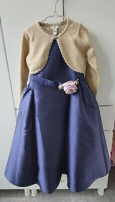 £40 • Buy Monsoon Girls Navy Occasion/Bridal/Flower Girl/Party Dress, Cardigan Age 5-6