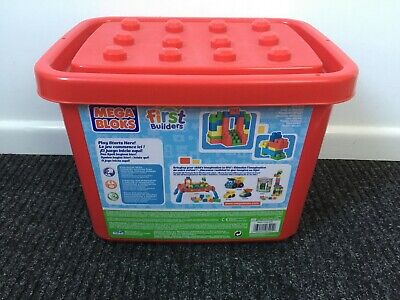 £6 • Buy ELC First Builders Mega Bloks Container With 70 Pieces Age 1-5