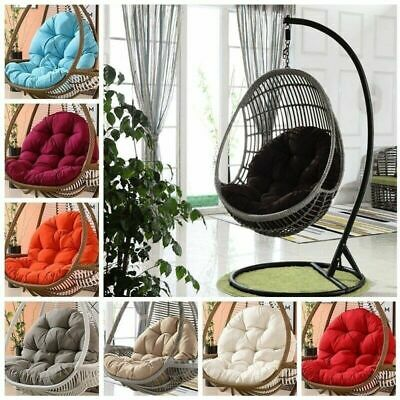 £84.29 • Buy Hanging Egg Chair Outdoor Patio Hammock Swing Cushion Seat Canopy Stand
