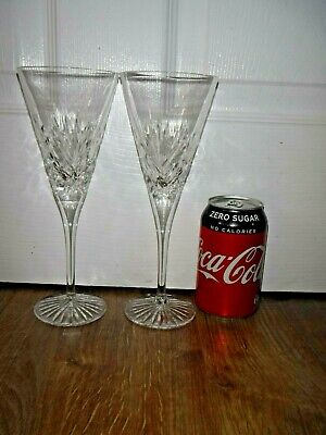£24.99 • Buy Royal Doulton Crystal DIANA Pair Red Wine Glasses ~ Signed ~ Excellent