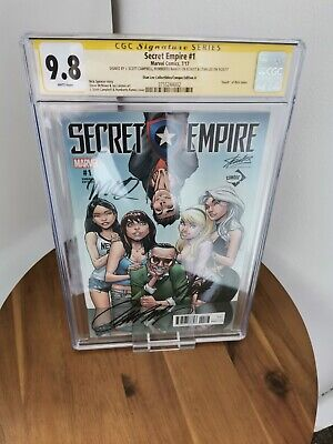 £252.99 • Buy CGC 9.8 Secret Empire #1 Variant Edition Signed By Stan Lee, Campbell & Ramos